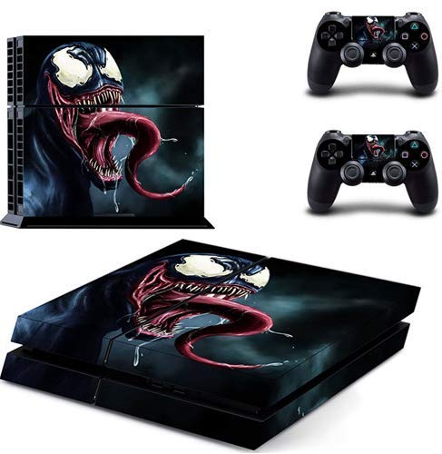 Spiderman Venom PS4 Skin Sticker Decal For Sony PlayStation 4 Console and 2 Controllers PS4 Skin Sticker Vinyl Venom