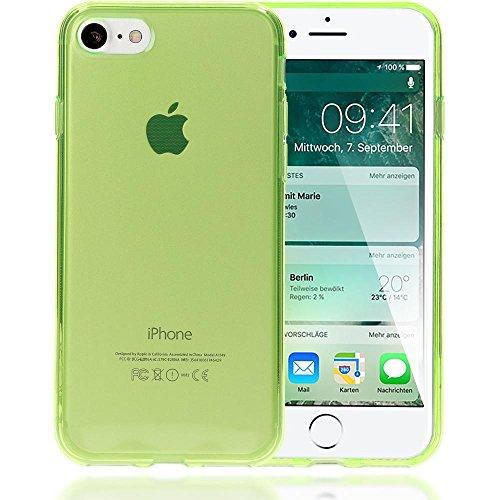 iPhone 8 / 7 Hülle Handyhülle von NICA, Ultra-Slim Silikon Case Cover Crystal Schutzhülle Dünn Durchsichtig, Etui Handy-Tasche Backcover Transparent Bumper für Apple iPhone-7 / 8 - Grün Transparent Grün Transparent