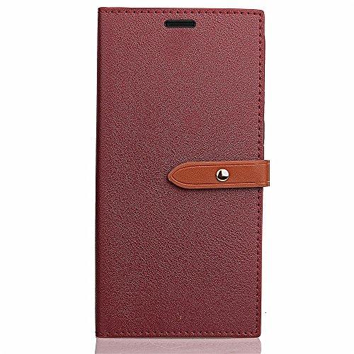 Slim Premium PU Leder Brieftasche Case Horizontale Flip Stand Schutzhülle mit Card Slots und Niet Gürtelschnalle Closure für Xiaomi Hongmi 4X ( Color : Wine ) Wine