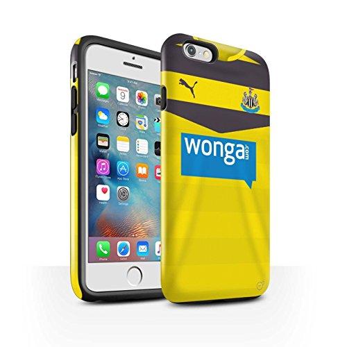 Offiziell Newcastle United FC Hülle / Glanz Harten Stoßfest Case für Apple iPhone 6S+/Plus / Pack 29pcs Muster / NUFC Trikot Home 15/16 Kollektion Torwart
