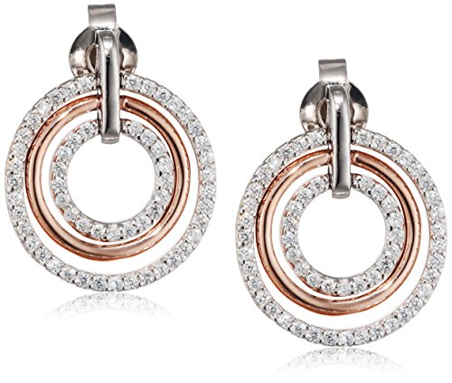 Esprit Essential Damen-Ohrstecker ES-CIRCLETS 925 Silber rhodiniert Zirkonia transparent - ESER92880D000