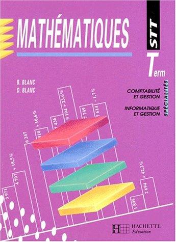 Mathématiques, Terminale STT