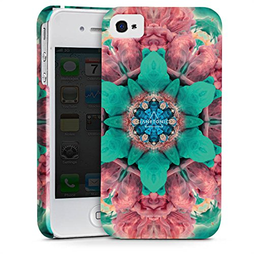 Apple iPhone X Silikon Hülle Case Schutzhülle Batik 360 Grad Abstrakt Premium Case glänzend