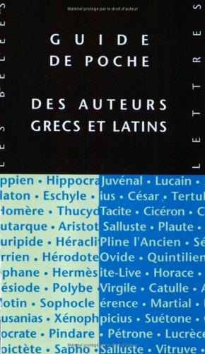 Guide de poche des auteurs grecs et latins