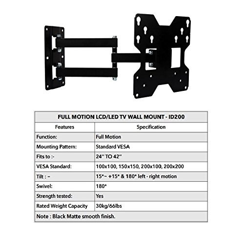 Ideal full motion TV wall mount stand - 24