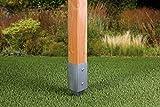 GAH-Alberts 211271 Einschlag-Bodenhülse für Vierkantholzpfosten - feuerverzinkt, 71 x 71 mm / 750 mm Test