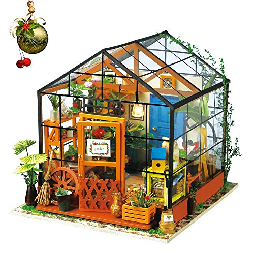 DIY-Bibliothek Aus Holz Puppenhaus-Kits-Bücher Shop Woodcraft Construction Kit Handmade Library...