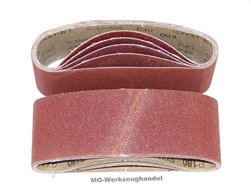 Preisvergleich Produktbild 25 Stück Gewebe-Schleifbänder 75 x 533 mm Körnung je 5 x 40/60/80/120/180 für Bandschleifer