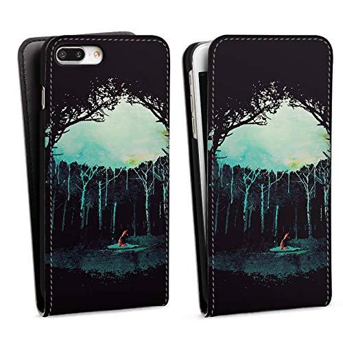 DeinDesign Flip Case kompatibel mit Apple iPhone 7 Plus Tasche Hülle Wald Art Forest