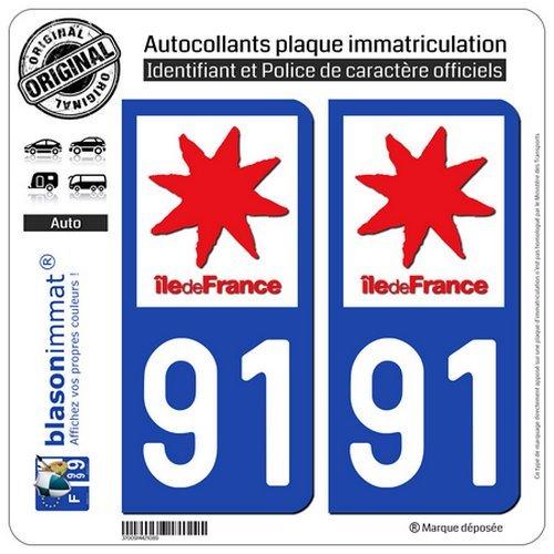 Fond Noir blasonimmat 2 Autocollants Plaque immatriculation Auto F France Identifiant Europ/éen
