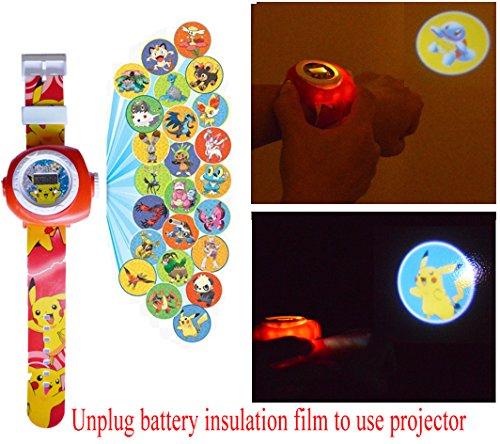 Pokemon Pikachu Reloj de Proyección Digital 20 Imágenes Diferentes