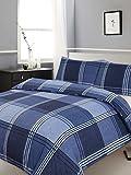 Single Bed Duvet/Trapunta, lenzuola di Hamilton, motivo a scacchi, colore: Blu a strisce