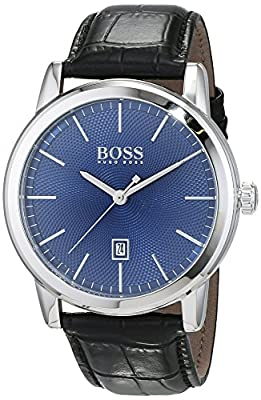 HUGO BOSS Men's Analogue Quartz Watch with Leather Strap - 1513400