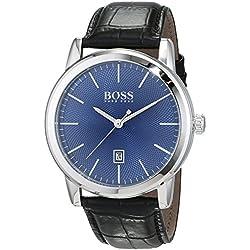 Hugo Boss Homme Analogique Classique Quartz Montres bracelet avec bracelet en Cuir - 1513400