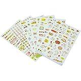 6hojas diario Stickers–Adhesivos decorativos Adhesivos dulce autoadhesivas Kawaii HOT