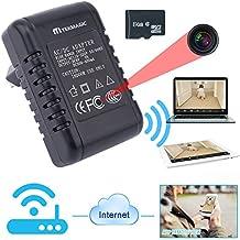 TEKMAGIC 8GB 1280x720P HD Intérieur WiFi Réseau Caméra Espion Vidéo Enregistreur Puissance Adaptateur de Courant Détective Mouvement Mini DV Caméscope Soutien iPhone Android APP Vue à Distance