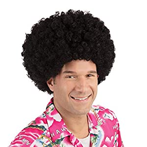NEW HUGE BLACK AFRO WIG 70