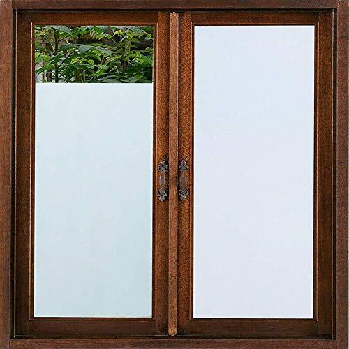 GK Ufficio bianco opaco per vetri oscurati per vetri oscurati Adesivo in vetro adesivo per vetri tinta unita non adesivo per bagno di casa Doccia UV blocco auto-statico Cling finitura opaca