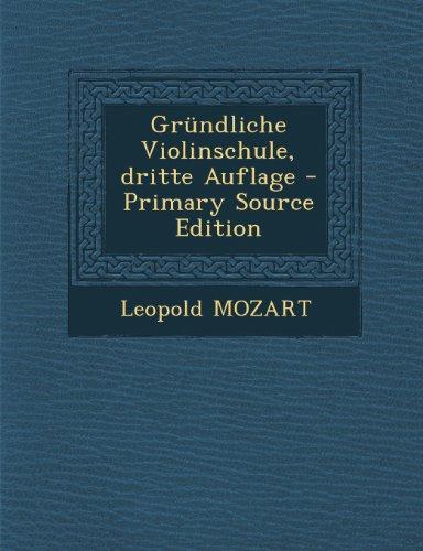 Grundliche Violinschule, Dritte Auflage