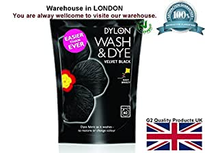 Dylon Wash & Dye Black Machine Dye Fabric Large 350G