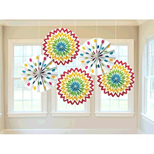 amscan-international-298901-90-20-cm-rainbow-dots-and-chevron-paper-fan