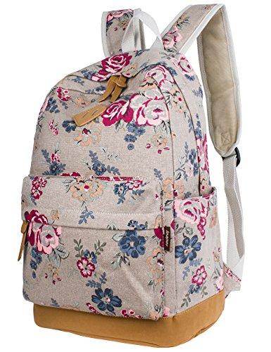 leaper-cute-floral-canvas-school-backpack-laptop-bag-travel-shoulder-rucksack-vintage-rose