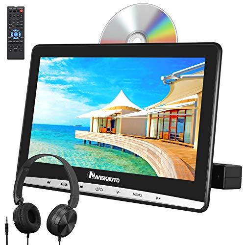 NAVISKAUTO 12 DVD Player Auto Slot In Tragbarer DVD Player Kopfstütz Monitor Bildschirm Memory TF USB AV In/Out 12V