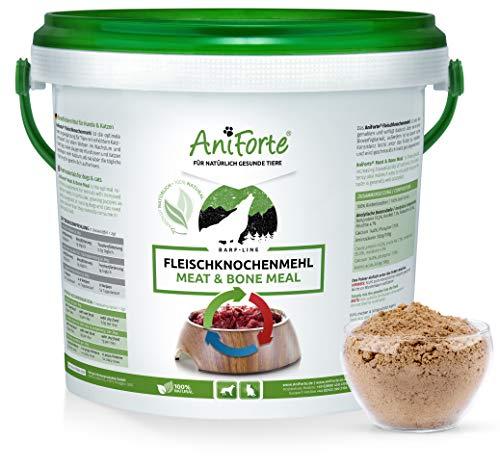 AniForte Fleischknochenmehl 2 kg für Hunde und Katzen, Natürliche Deckung des Kalzium und Phosphorbedarfs beim Barfen, Barf Ergänzung, Absolut Natürlich - Natürliche Kalzium