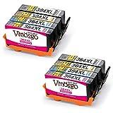 Vmosgo Ersatz für HP 364 364XL Druckerpatronen 4 Farbe Kompatibel mit HP Photosmart 5520 7520 5510 6520 5515 5522 B110 Premium C410B C310A C309G Deskjet 3520 3070A Officejet 4620, 8er-Pack