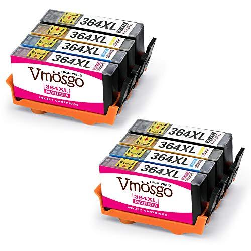 Vmosgo 364XL Sostituzione per HP 364 Cartucce d'inchiostro, Lavoro con HP Deskjet 3520 3070A 3522 Officejet 4620 4622 Photosmart 5510 5520 7520 6520 5514 6510 Photosmart Premium C310A (4 Colori)