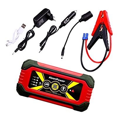 51HKJ0cUpkL. SS416  - Keenpower Car Jump Starter 12V Car-Stlying Dispositivo de inicio Cargador Car Battery Booster Buster