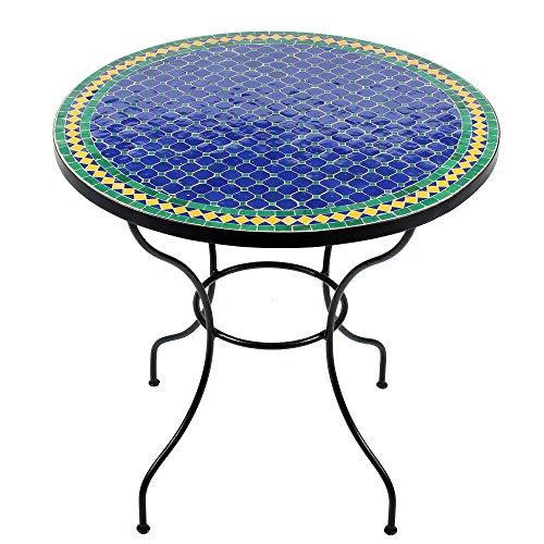 albena Marokko Galerie Marokkanischer Mosaiktisch 80cm Rund Gartentisch Bistrotisch Terrassentisch Fliesentisch