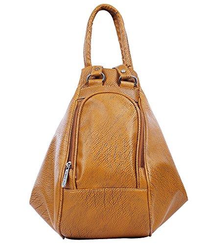 Fristo Women's Shoulder Bag Cum Backpack Handbag(Tan,Frb-072)