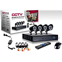 KIT VIDEOSORVEGLIANZA h264 CCTV 4 CANALI TELECAMERA