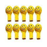 Gelbe Smiley Gesichtsausdrucks-Luftballons, Latex