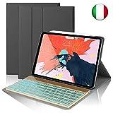 SENGBIRCH Custodia Tastiera per iPad PRO 11, Slim Fit Cover Protettiva per con Italian Tastiera Bluetooth Wireless Staccabile per iPad PRO da 11 Pollici (Nero)