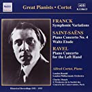 Great pianists: Historical recordings, 1931-1935 - Frank : Symphonie Variations / Saint-Saens : Piano concerto no.4, Waltz etude / Ravel : Piano concerto for the left hand