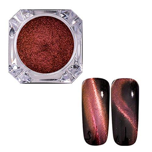 Kapmore Clou Poudre D Art Clou Œil Poudre 3D Miroir Effet Chat Œil Clou Briller Décoration D Ongles pour Femme