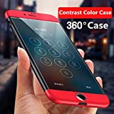 Amozo All Sides Full Protection 360 Degree Sleek Rubberized Matte Hard Case Back Cover for Apple iPhone 7 (Without Tempered Glass)