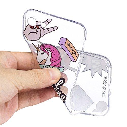 Per iPhone 7 Cover , YIGA corona imperiale Cristallo Trasparente Silicone Morbido TPU Case Shell Caso Protezione Custodia per Apple iPhone 7 (4.7) LF8