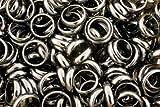 Edelsteine, Hämatit-Ringe, 3 Stück in versch. Größen (Stückpreis 1,63 Euro)
