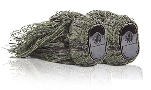 Tarnkappe Ghillie Cover für kabellose Arlo Pro Kameras – Smart Security von Wasserstein (Arlo Pro, 2 x Ghillie) Test