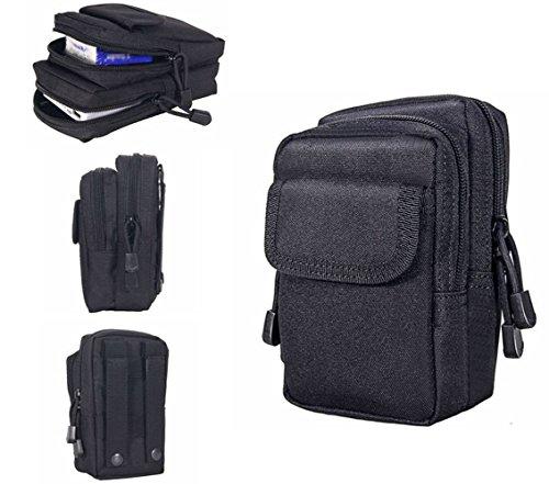 Tactical sacchetto Edc Compact Outdoor multi-purpose Utility gadget strumento cintura marsupio impermeabile confezione con telefono cellulare per ciclismo sport escursioni, Brown Black