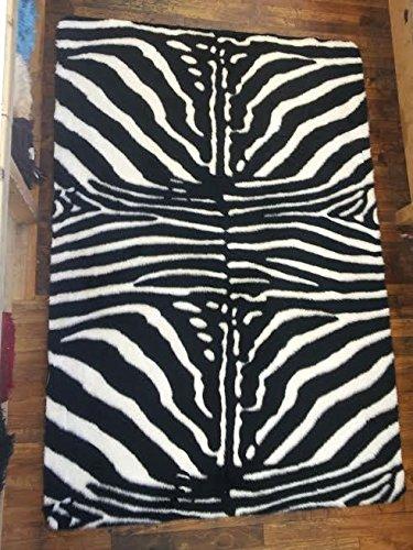 Orientbazar24 Zebra Alfombra Pelo 220x 150cm Rectangular