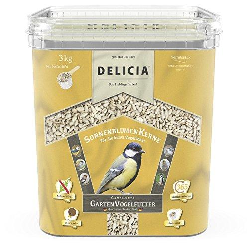 Galleria fotografica Delicia giardino mangime per uccelli semi di girasole 3kg secchio