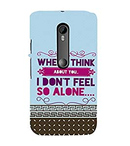 ifasho Designer Back Case Cover for Motorola Moto G3 :: Motorola Moto G (3rd Gen) :: Motorola Moto G3 Dual SIM (When I Think About You)
