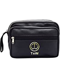 TnW Artificial Leather Unisex Multi Purpose Toiletry Bag||Toiletry Kit||Travel Kit||Travel Pouch||Toiletry Pouch...