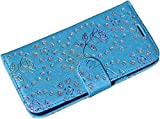 Best Iphone 6 Plus Case Luxuries - Luxury Slim Blingy Glitter PU Leather Wallet Flip Review