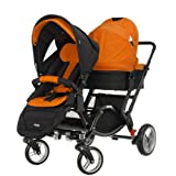 Obaby Zynergi Zoom (Black Chassis) with 2 Seat Units (Orange)