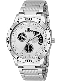 Watch For Men Stylish Latest Refreshing Deal Silver Dial Chronograph Watch For Men